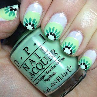 Kiwi fruit nails