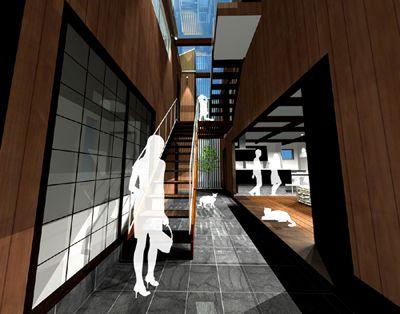 新築住宅「外の家」1 CG | 建築家と建てる家・TAU設計工房 一級建築士事務所