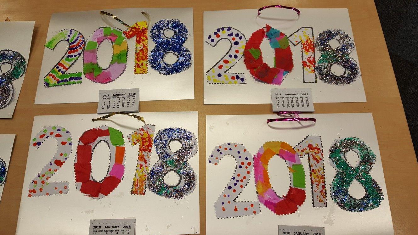 New Year S Year Craft Calendar Craft Kids Calendar Calendar Ideas For Kids To Make