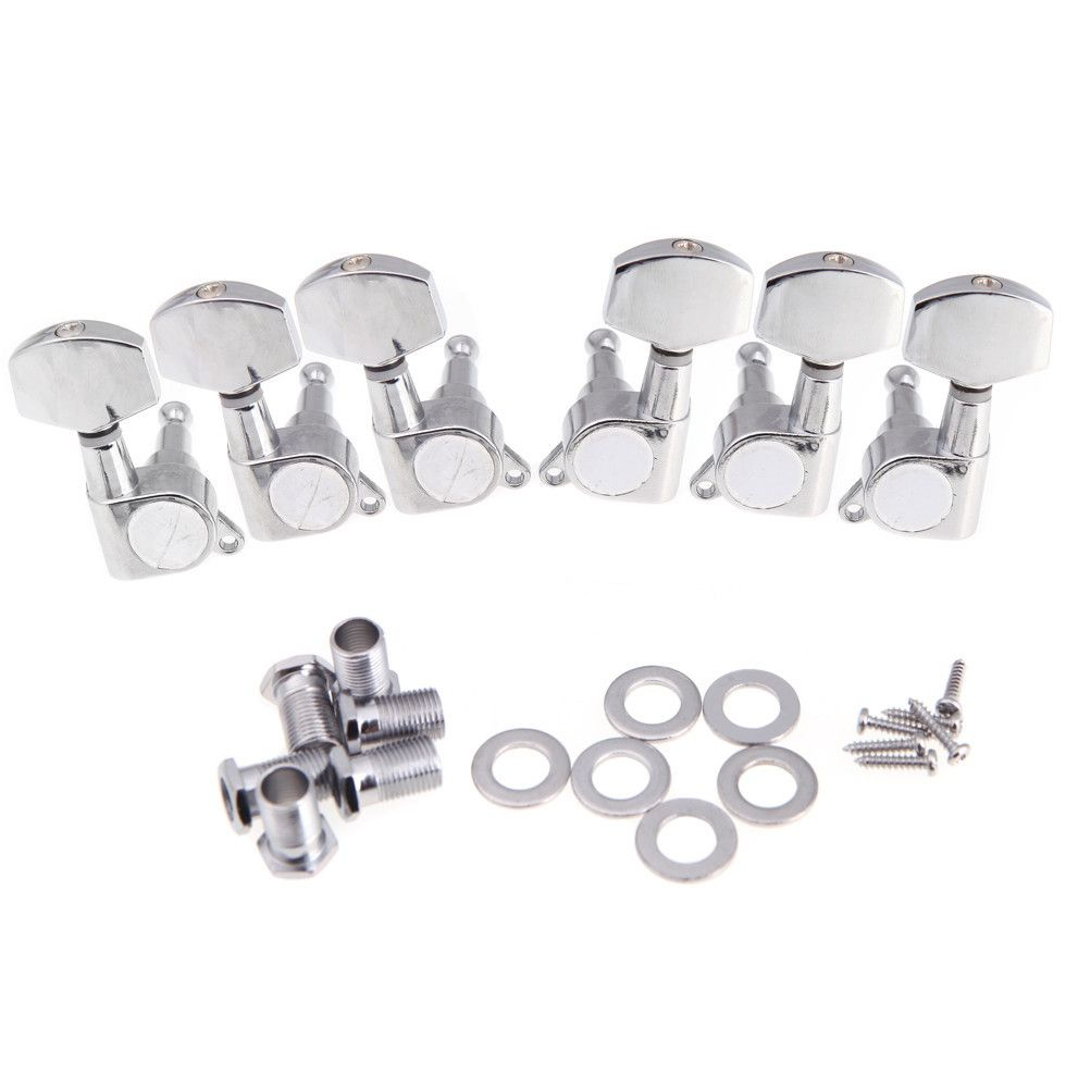 6r Chrome Guitar Tuning Pegs Tuner Machine Heads Stratocaster Telecaster Guitar Parts Bass Guitar Parts Guitar Tuning Acoustic Guitar Strings
