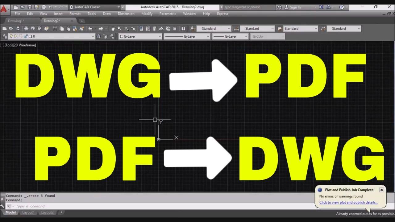 Convert dwg program pdf to