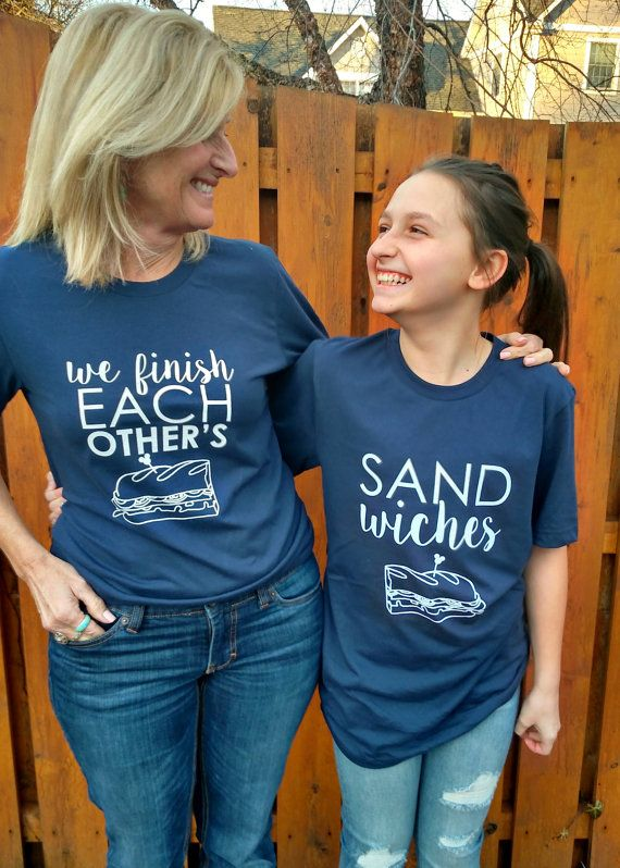 3cd86be4 WE FINISH EACH OTHERS SANDWICHES in NAVY THIS LISTING IS FOR TWO TEE SHIRTS!  Price includes both! Its the perfect shirt to wear with your