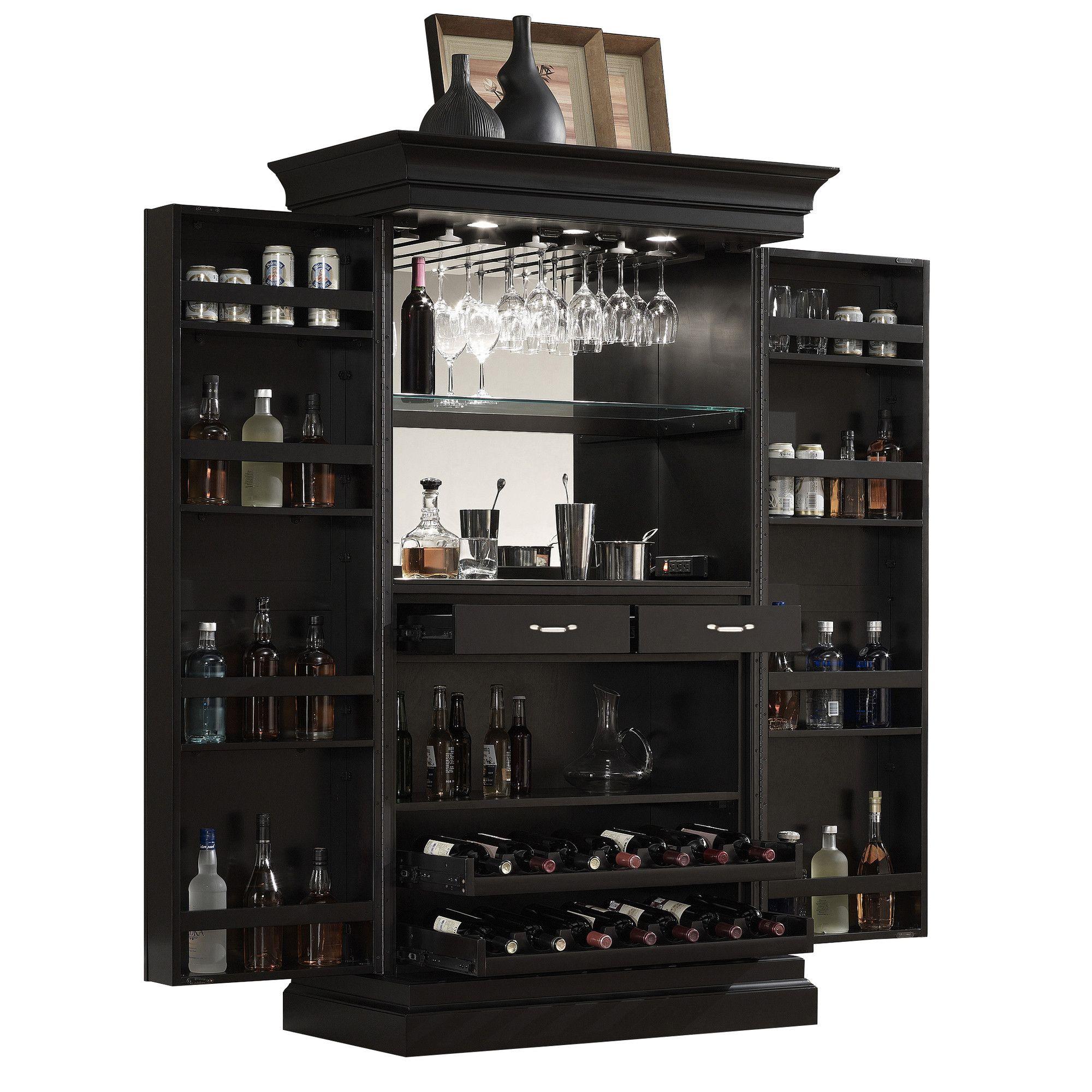 Have To Have It Ahb Francesca Corner Bar Cabinet Black