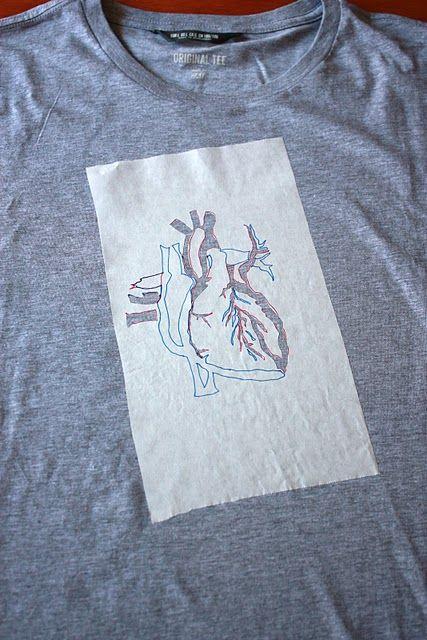 freezer paper stencil t-shirt