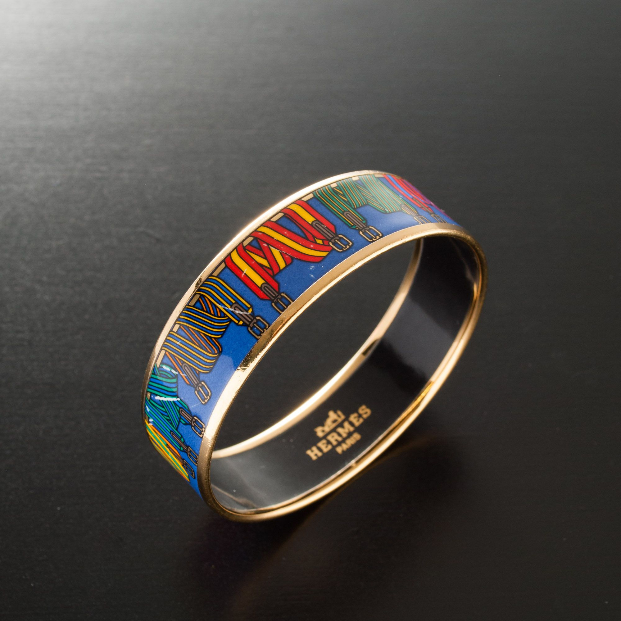 #Hermès multicolor #enamel #bangle. Available at lxrco.com for $499