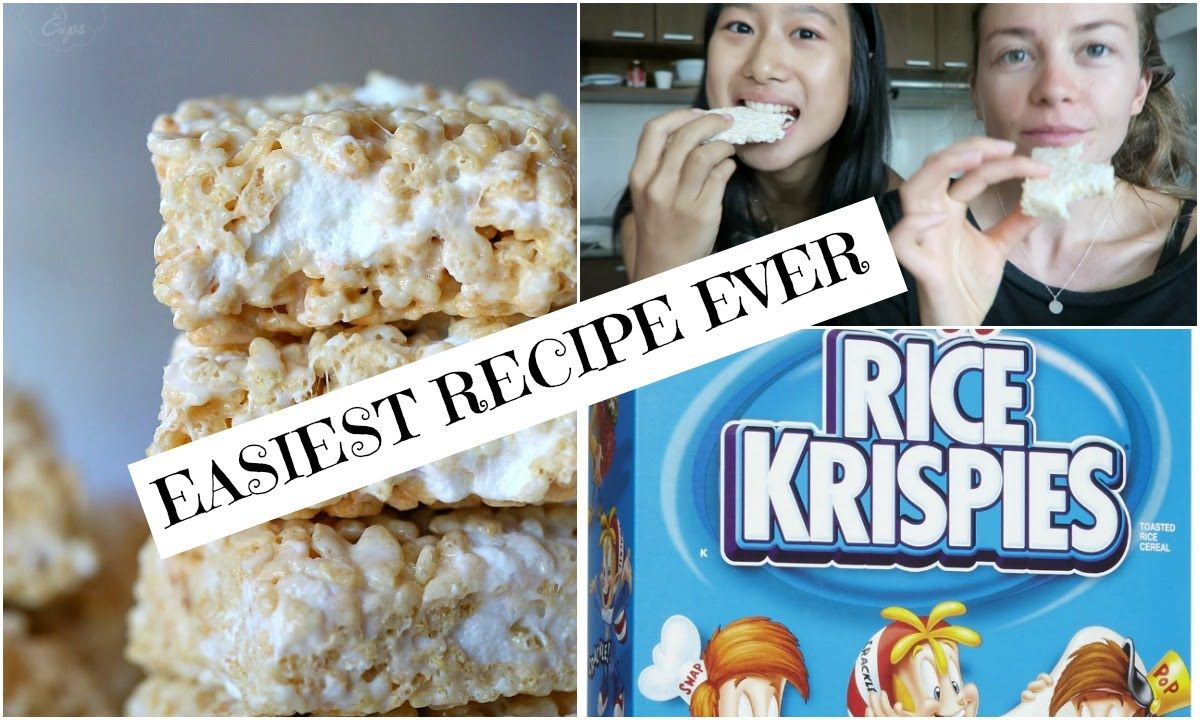 TWO-INGREDIENT RICE KRISPY TREATS | VEGAN