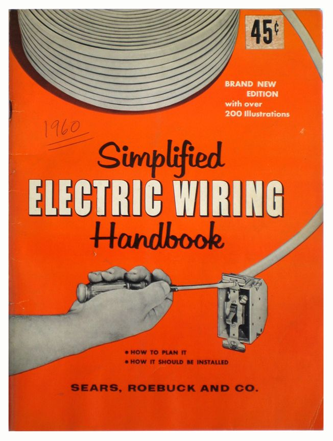 simplified electric wiring handbook old catalogs pinterest rh pinterest com electrical wiring installation handbook simplified electrical wiring handbook