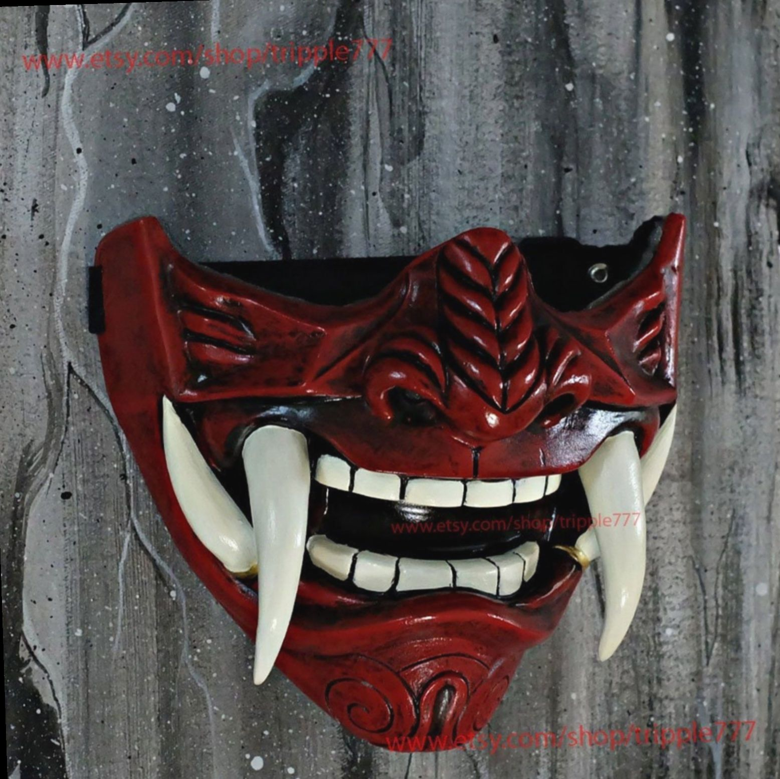 17 Anime Face Mask Art Oni Samurai Mask Drawing Japanese Demon Mask