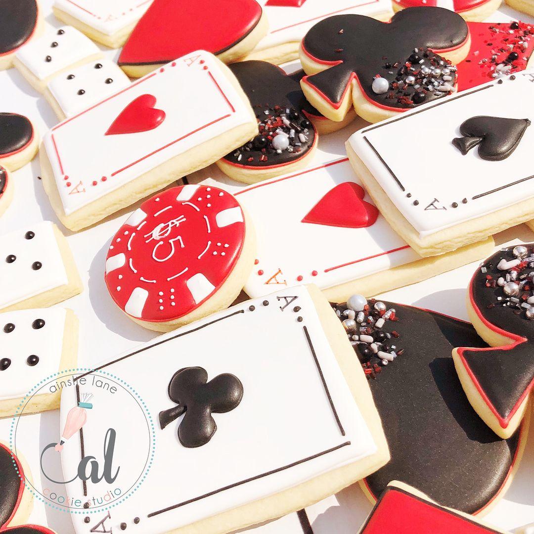 Casino cookies | Cookies/Galletas | Pinterest