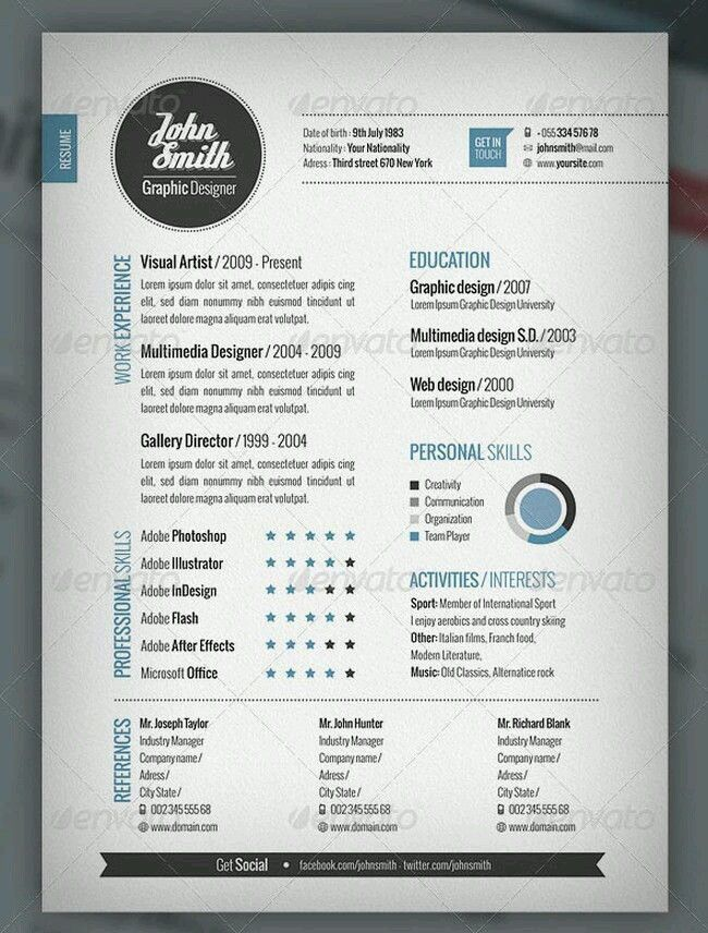 Pin by Yogi Ananda F A on Design Pinterest - cool resume templates free