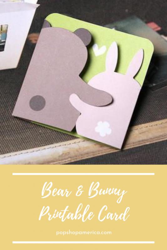 Bear And Bunny Printable Greeting Card Greeting Cards Handmade Birthday Birthday Card Craft Printable Greeting Cards