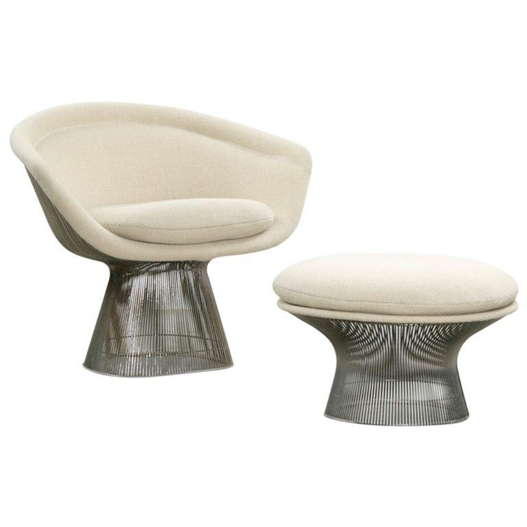Warren Platner Easy Chair With Ottoman