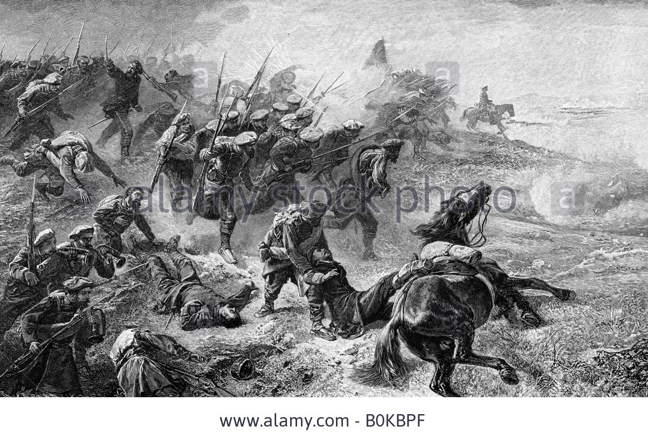 Attack Of Basque Carlists During The Revolt Of 1872-1876, (1902 Stock Photo, Picture And Royalty Free Image. Pic. 17636711