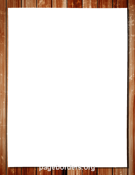 Printable wood frame border. Use the border in Microsoft Word or ...