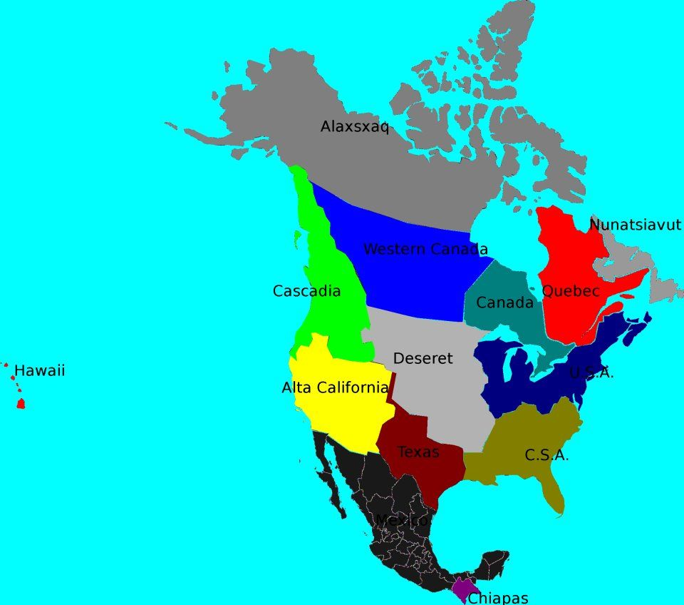 Possible map of North America and the bioregions | Cascadia