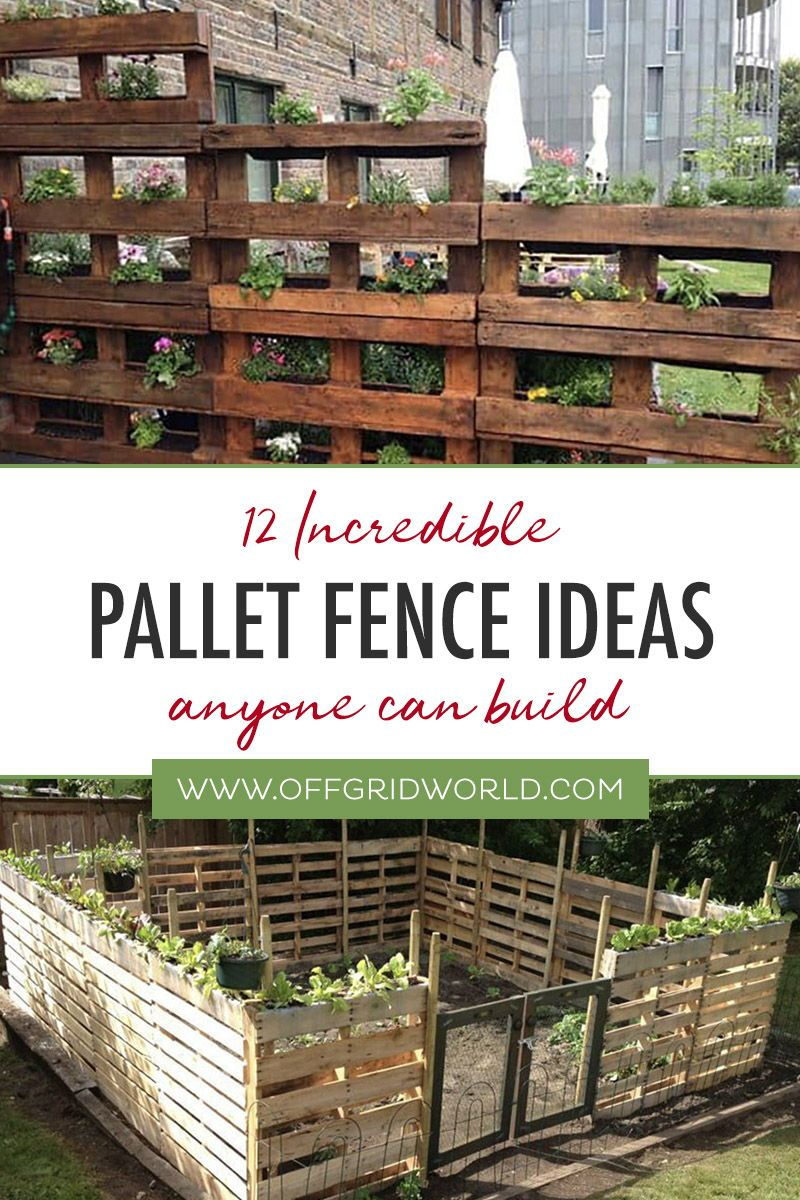 12 Impressive Pallet Fence Ideas Anyone Can Build Diy Garden Fence Pallets Garden Pallet Fence