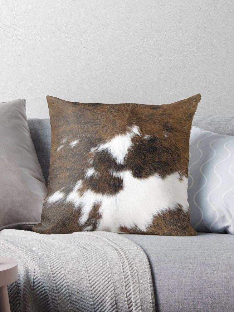 Cowhide Throw Pillow Cowhide Pillows Rustic Pillows Throw