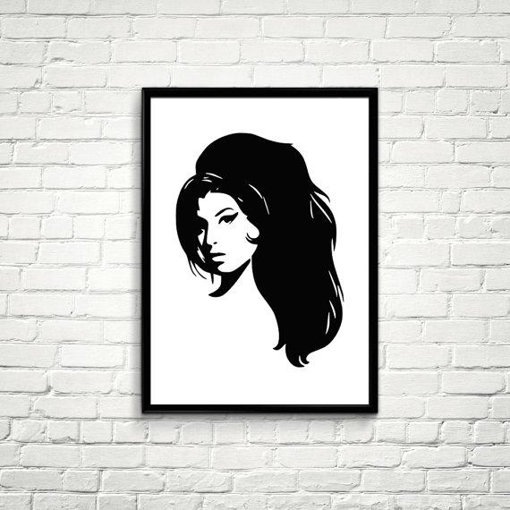 Amy Winehouse Art Music Minimalist Poster Art Printable File Wall Art Amy Winehouse Art Poster Home Decor Digital Print 33 Minimalist Poster Poster Art Art