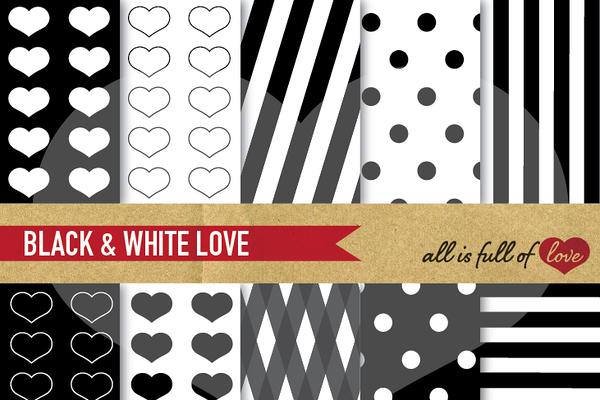 Black & White Digital Patterns