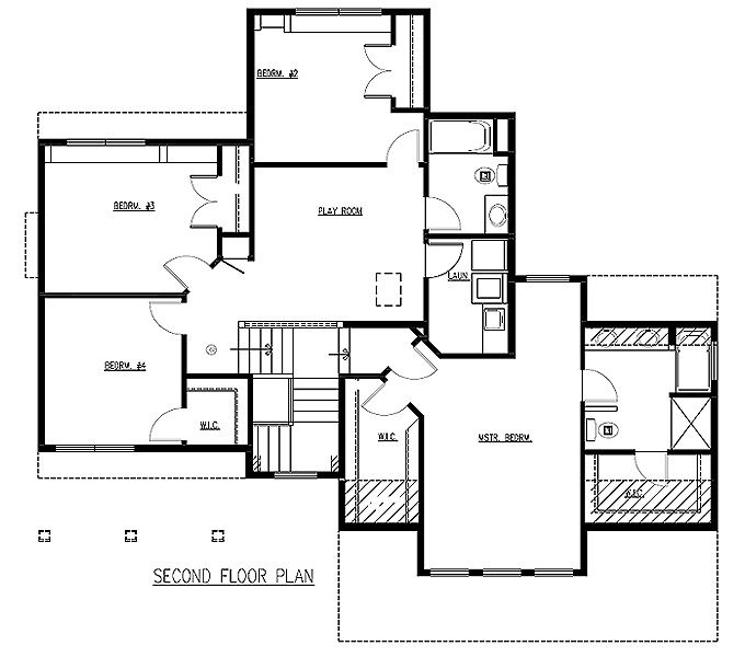 Elegant TJB Emma Plan #212 Upper Level Floor Plan