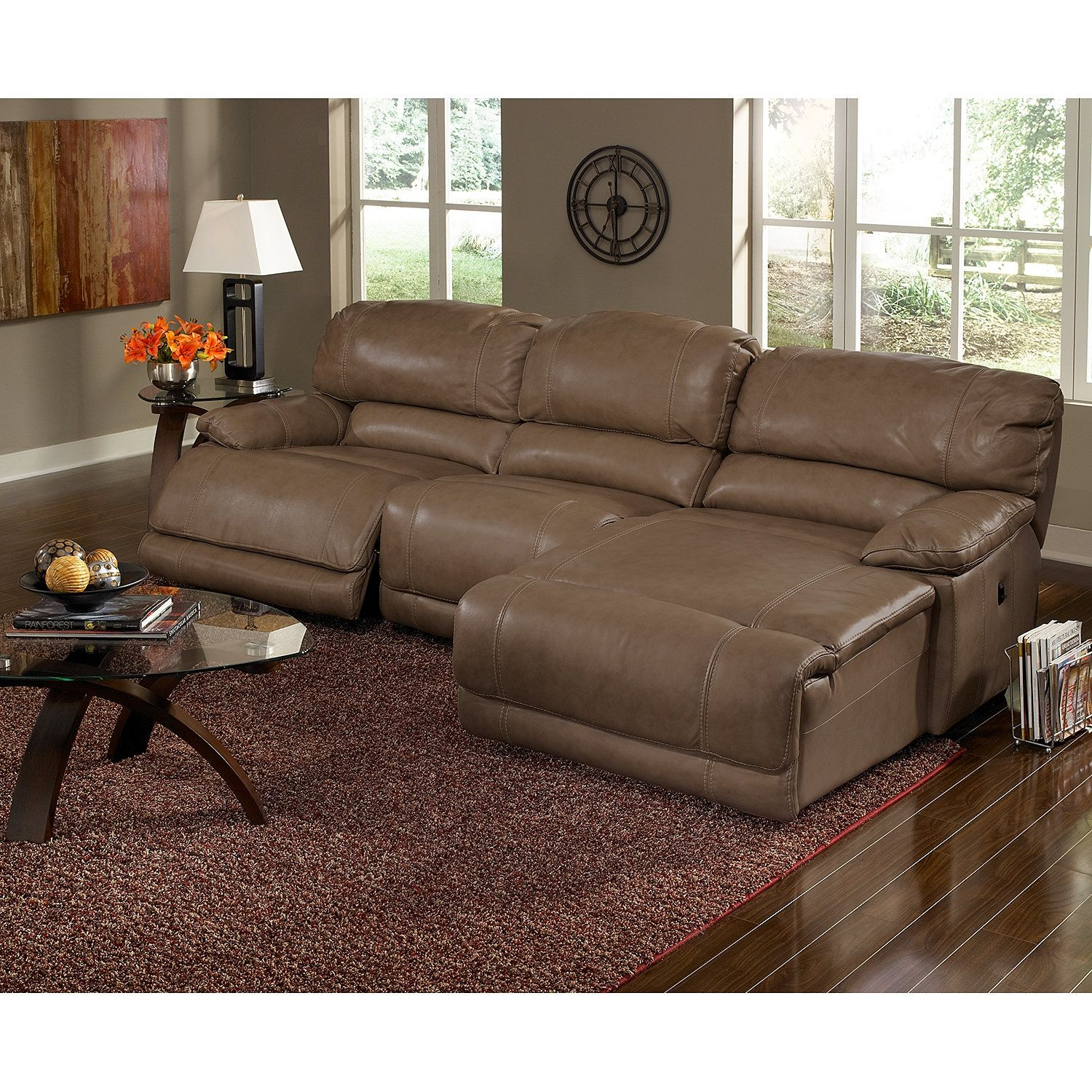 St Malo 3 Piece Power Reclining Sectional With Chaise
