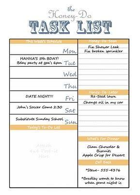 printable task lists