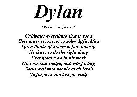 Dylan Name