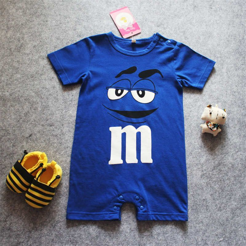 04ce98a6bcab New Baby M Ms Romper Short Sleeve Cotton Jumpsuit Baby Cartoon Print ...