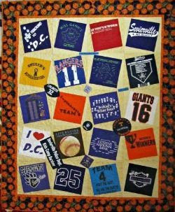 Quilt Sashing Ideas | shirt Quilts Are Made to Memorialize One's ... : tee shirt quilt directions - Adamdwight.com