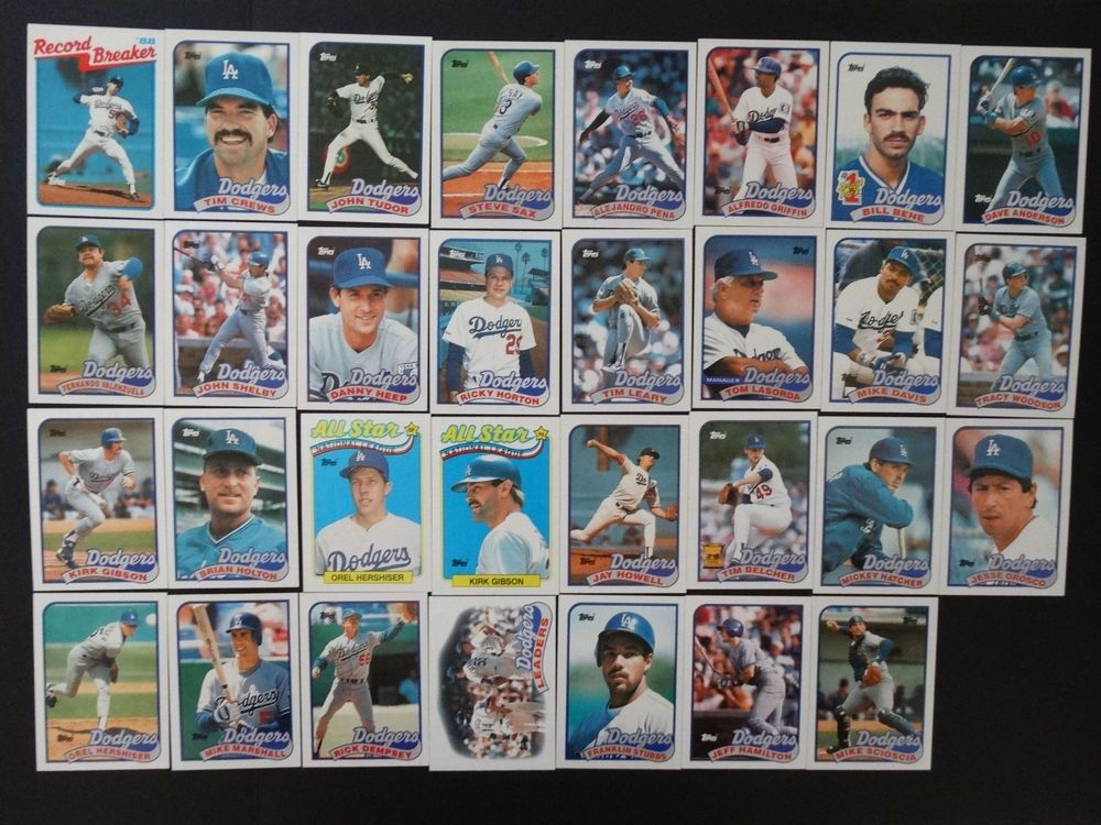 Details about 1989 topps los angeles dodgers team set 36