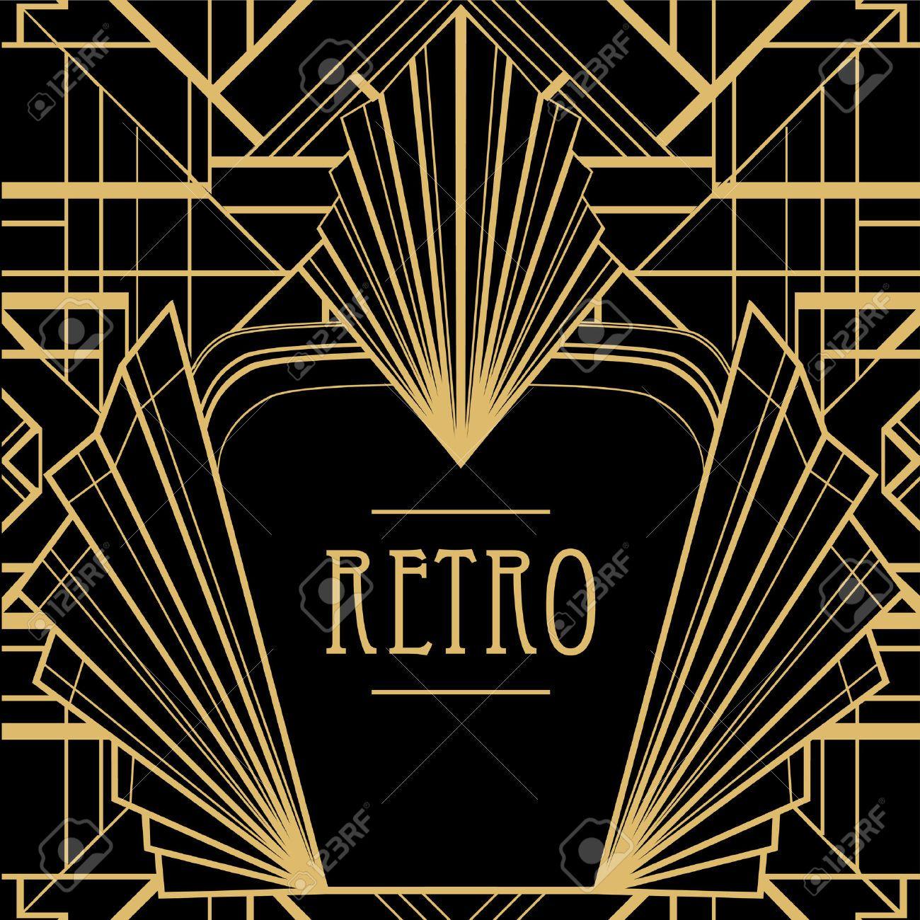 43572249-Art-deco-geometric-pattern-1920-s-style--Stock ...