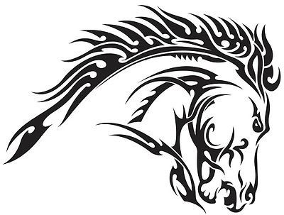 Great for Car or laptop!! This is a tribal horse die cut vinyl sticker or decal