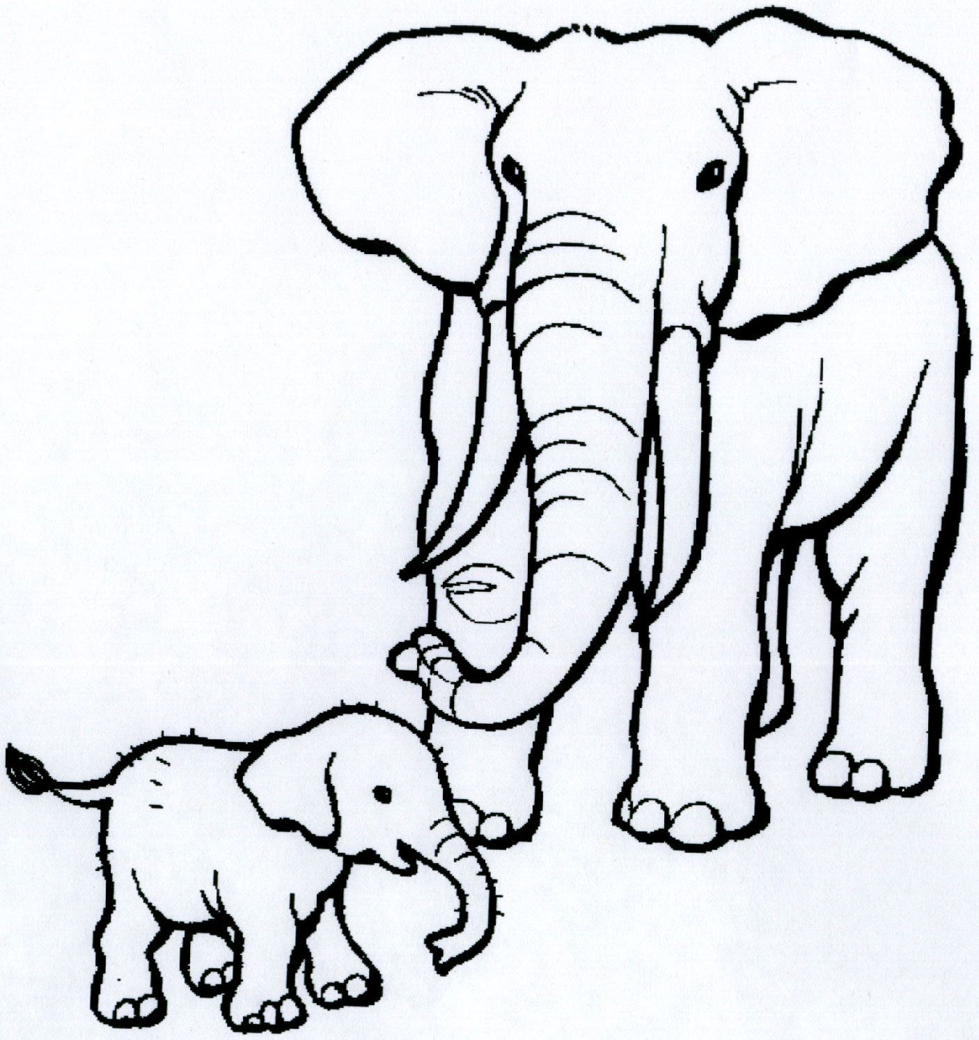 african animals coloring pages click on each image to get downloadable pages that you can - Big And Small Coloring Pages