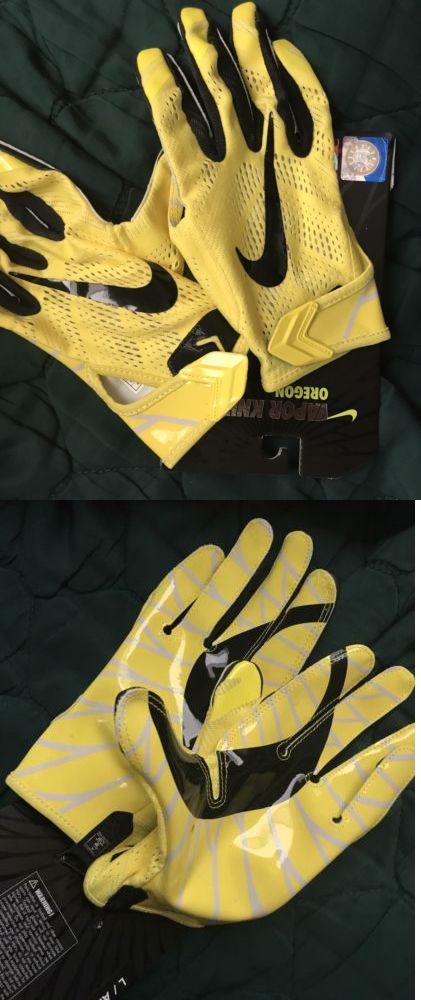 Gloves 159114: Nike Vapor Knit Oregon Football Gloves Yellow Green Adult L  -> BUY