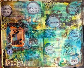The Colour Press: An art journal page - Scrapping4fun Challenge #22