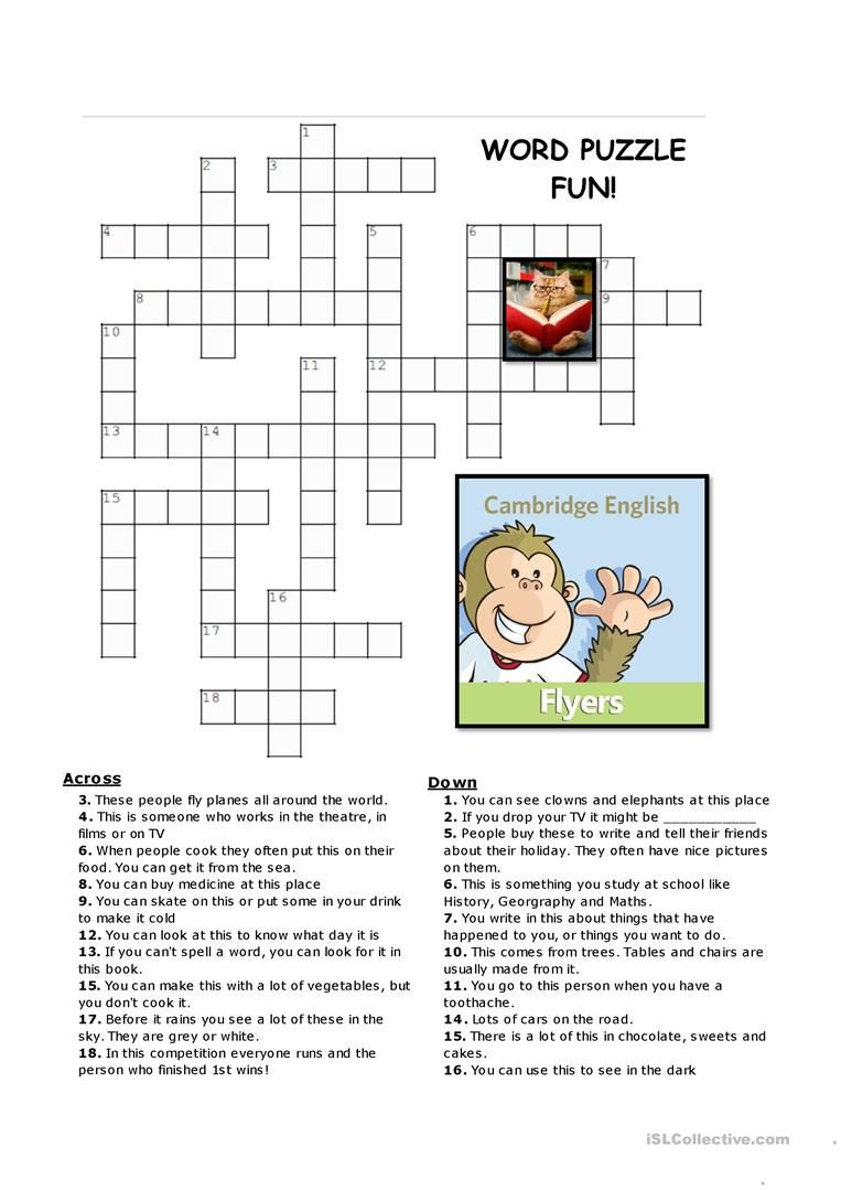 Flyers Vocabulary Puzzles