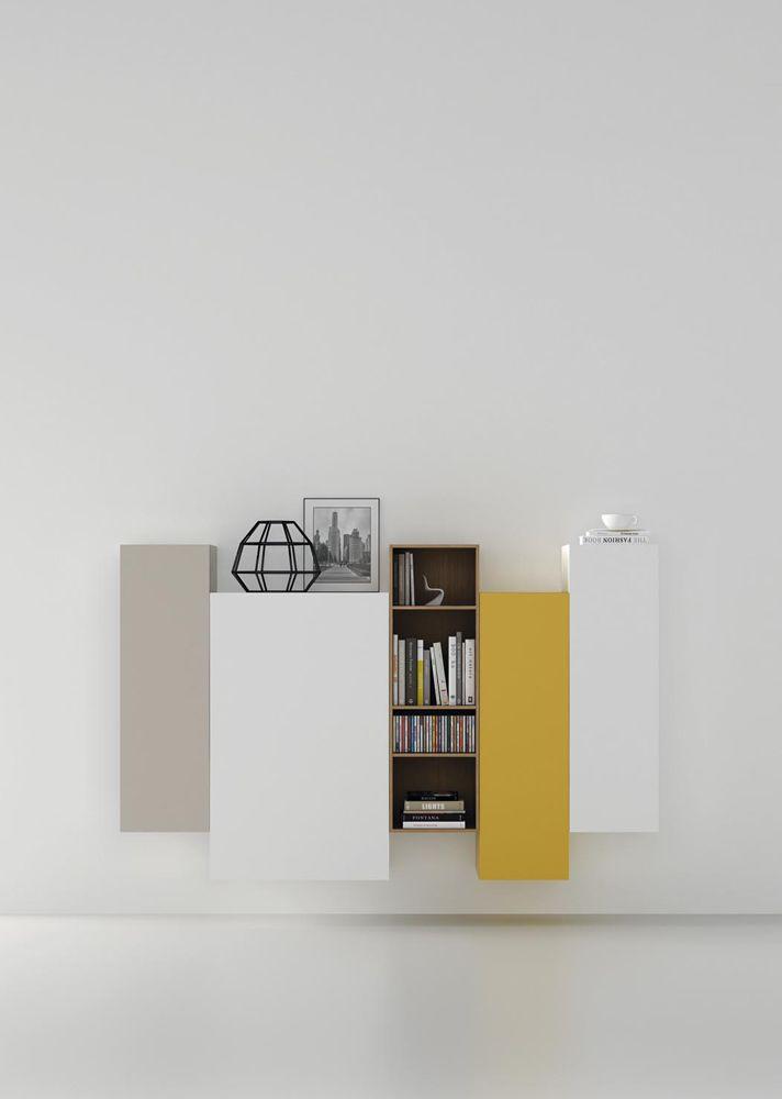 Mueble salón aparador recibidor en entrada con módulos colgados ...