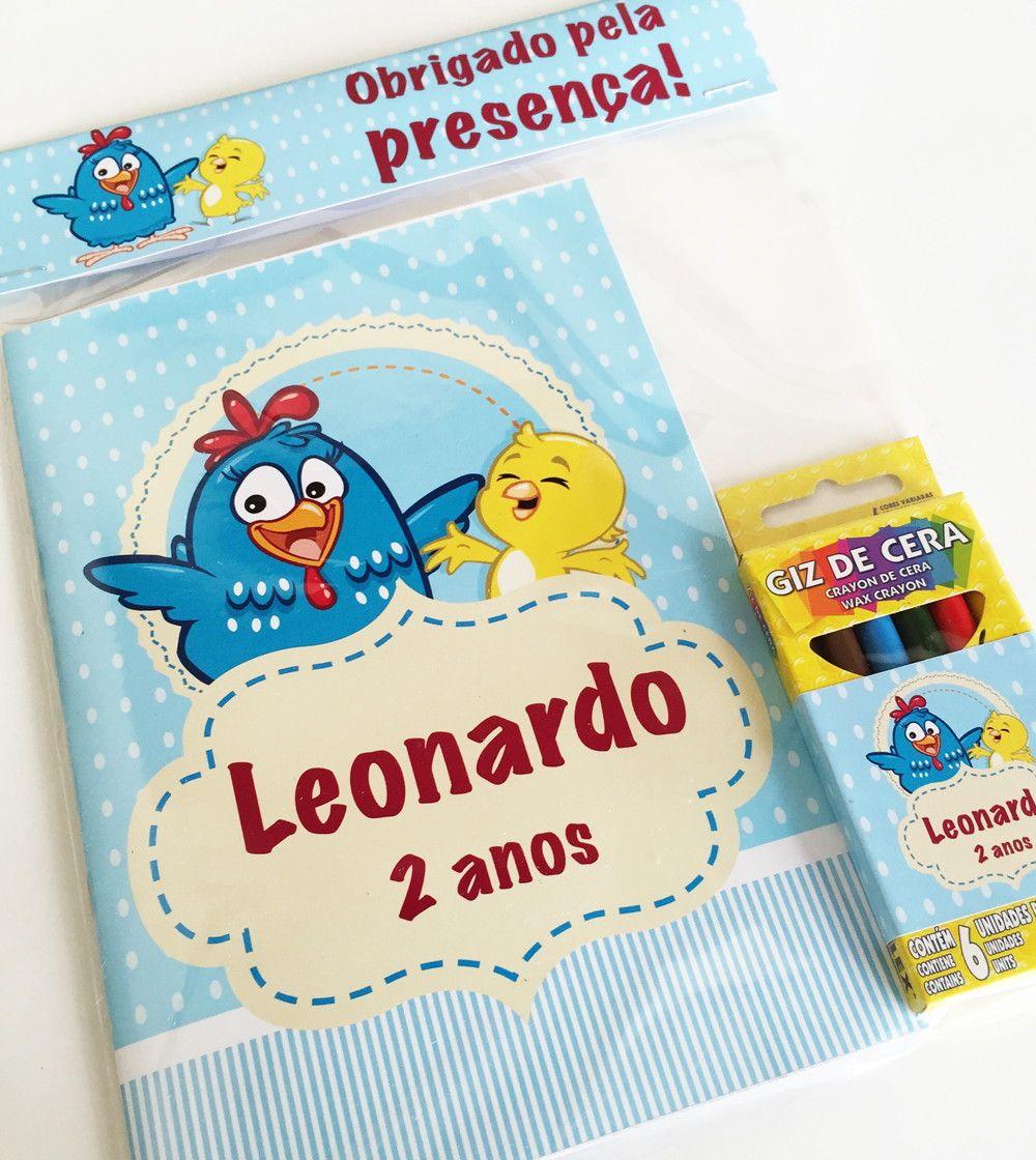 Lembranca Livro Para Colorir Personalizado Galinha Pintadinha