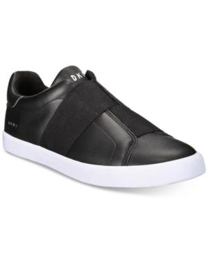 the best attitude 54256 a368c Dkny Men s Brogan Asymmetrical Elastic Gore Slip-On Sneakers - Black 9.5