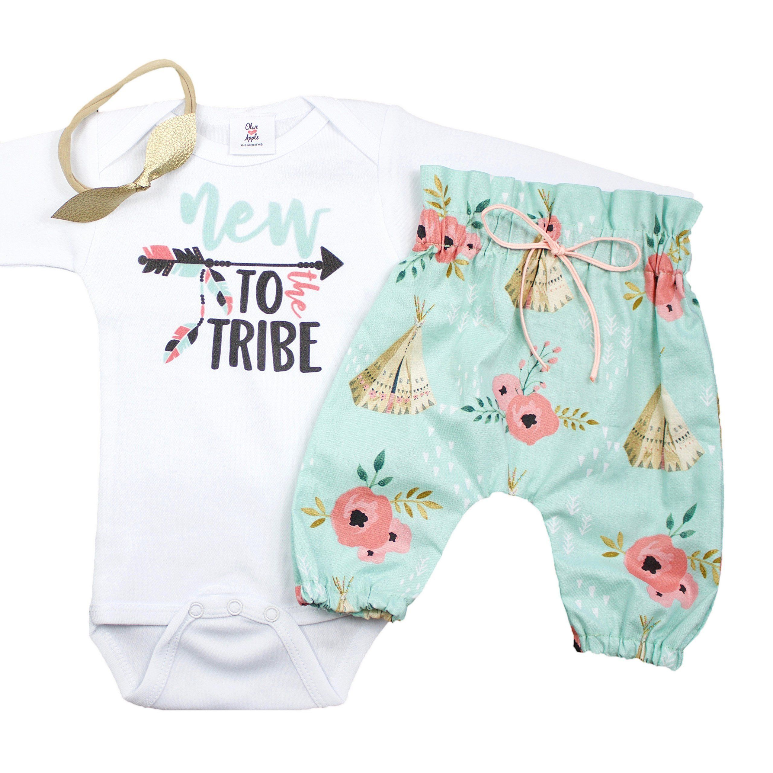 3 piece set Newborn baby girl outfit coming home baby girl clothes