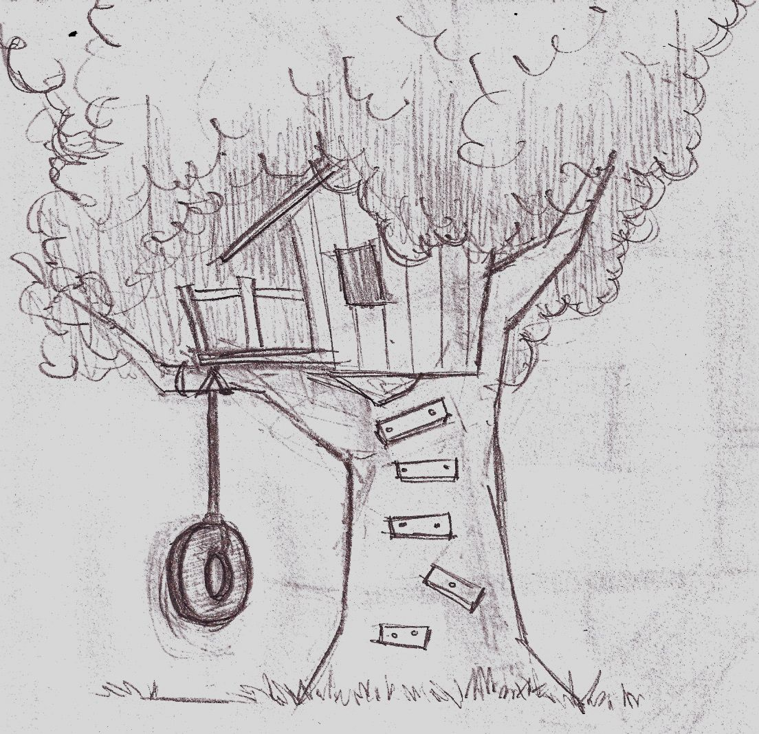 Red Tree House For Kids