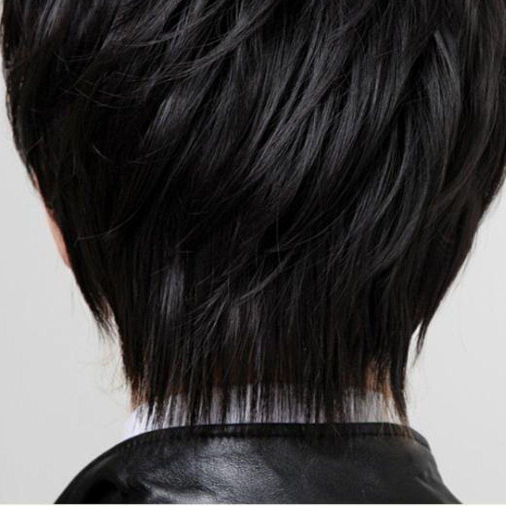 Rise World Wig Cool Mens Boys Short 25cm Straight Black