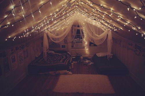 New Take On Ceiling Lights Loft Room Attic Bedrooms Tumblr Rooms