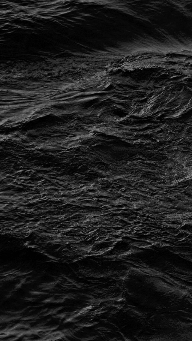 iPhone, Rough Sea, Water Black Wallpaper iPhone