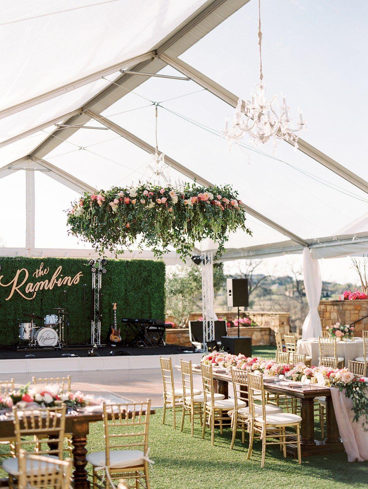 24 Flower Chandeliers To Give Your Wedding A Garden Fresh Feel Tent Wedding Reception Garden Wedding Reception Outdoor Wedding Decorations