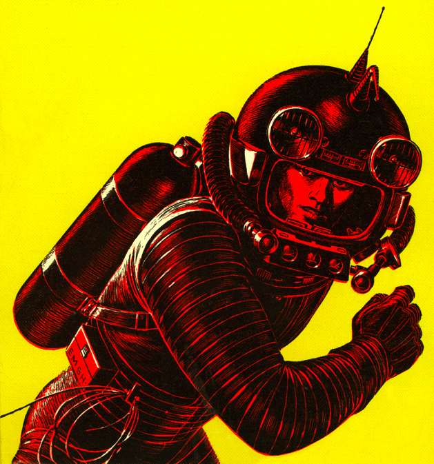 Vintage Astronaut Illustration