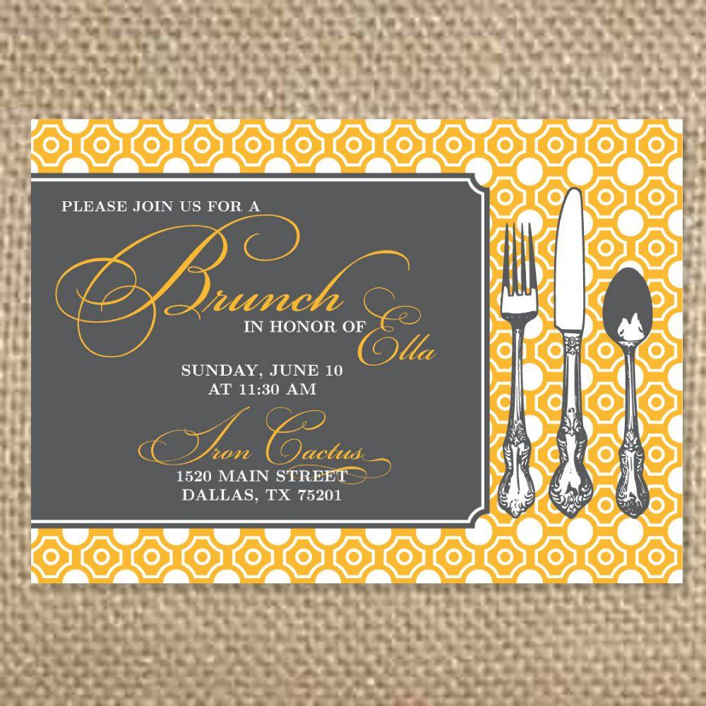 Brunch Bridal Shower Invitation, Brunch Party Invitation, Bridal ...