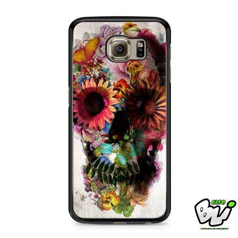Floral Skull Samsung Galaxy S6 Case