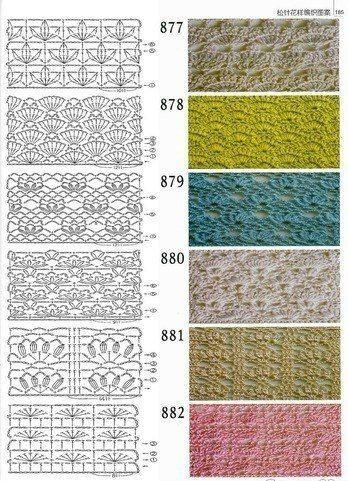 Materiales gráficos Gaby: Puntos ganchillo con patrones | PUNTOS A ...