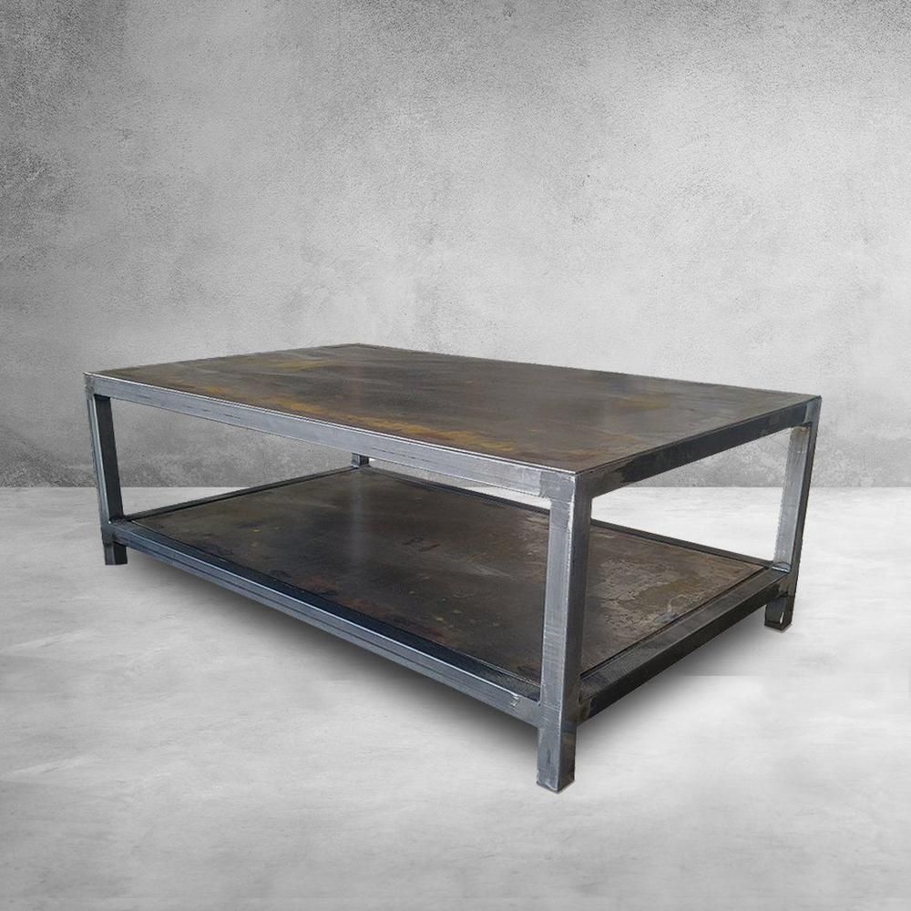 Welded Steel Two Tier Coffee Table Coffee Table Metal Table